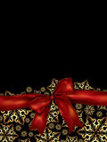 Holiday background with satin ribbon Royalty Free Stock Photography