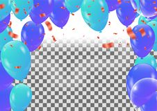 Holiday  background with serpentine design vector illustration b. Alloons Balloons and confetti Stock Photography