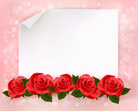 Holiday background with sheet of paper  Royalty Free Stock Image