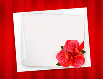 Holiday background with sheet of paper  Stock Image