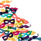 Holiday background with shiny colored carnival. Accessories Stock Photos