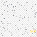 Holiday background with silver star confetti. Good background   Stock Photos