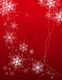 Holiday background with snowflakes Stock Photo