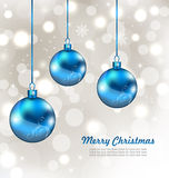 Holiday Background with Snowflakes and Christmas Stock Photography