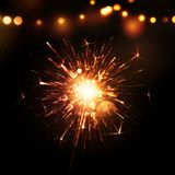 Holiday Background with Sparkler. Eps 10 Stock Photos