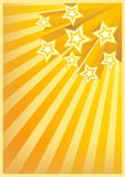 Holiday Background. With Stars full of orange and yellow colors Stock Images