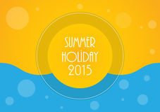 Holiday background. Summer holiday background, Vector illustration, eps10 vector illustration