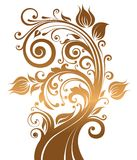 Holiday background with a tree royalty free illustration