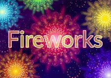 Firework, Holiday Background. Holiday Background with Various Colorful Fireworks, Sparks and Flashes. Eps10, Contains Transparencies. Vector Stock Photos