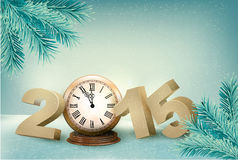 Holiday background with a 2015. Stock Image