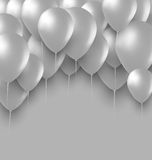 Holiday Background with White Balloons Stock Photography
