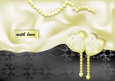 Holiday background with white silk Royalty Free Stock Image