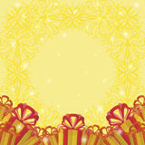 Holiday Background With Gift Boxes Stock Images