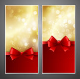 Holiday Backgrounds with  bow Stock Images