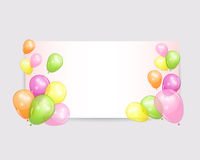 Holiday backgrounds with colorful balloons. Stock Photo