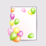 Holiday backgrounds with colorful balloons. Royalty Free Stock Image