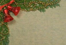 Holiday backgrounds - wishes. Holiday backgrounds with red bells Stock Photos