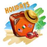 Holiday bag Royalty Free Stock Photos