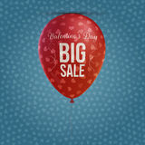 Holiday Balloon with Valentines Day big Sale Text Stock Images