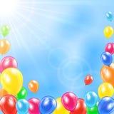 Holiday balloons Royalty Free Stock Image