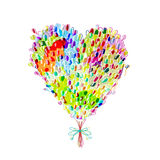Holiday balloons, heart shape for your design Stock Photo