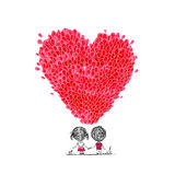 Holiday balloons, heart shape for your design Stock Images