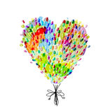 Holiday balloons, heart shape for your design Stock Photography