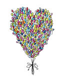 Holiday balloons, heart shape for your design Royalty Free Stock Images