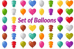 Holiday Balloons Set Stock Photo