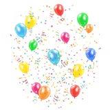 Holiday balloons and tinsel Stock Photo