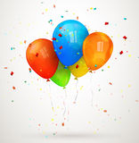 Holiday balloons. vector illustration Stock Image