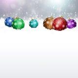 Holiday Balls on Snow Stock Image