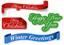 Holiday Banner Set Stock Images
