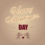 Holiday banner for Valentine's day. Royalty Free Stock Photos