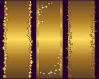 Holiday banners. Holiday banners with gold stars. Vector illustration Royalty Free Stock Image