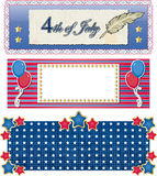 Holiday banners. 4th of july Stock Illustration