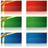 Holiday Banners Stock Photography
