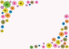 Holiday banners. Flower on white background, vector Stock Images