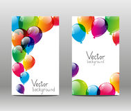 Holiday banners. With color balloons Royalty Free Stock Photo