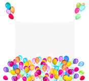 Holiday banners with colorful balloons Royalty Free Stock Photography