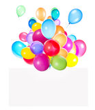 Holiday banners with colorful balloons Stock Images