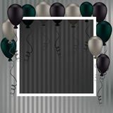 Holiday banners with colorful balloons. Stock Photo