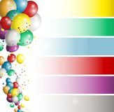Holiday banners with colorful balloons Stock Photo