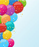 Holiday banners with colorful balloons. Vector. Holiday background with colorful balloons. Vector illustration for holiday or greeting cards, web, print and Stock Photos
