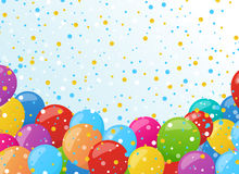 Holiday banners with colorful balloons. Vector. Holiday background with colorful balloons. Vector illustration for holiday or greeting cards, web, print and Stock Image