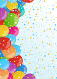 Holiday banners with colorful balloons. Vector. Holiday background with colorful balloons. Vector illustration for holiday or greeting cards, web, print and Royalty Free Stock Images