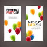 Holiday banners with colorful balloons. Vector illustration.  Royalty Free Stock Photos