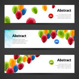 Holiday banners with colorful balloons. Vector illustration.  Stock Image