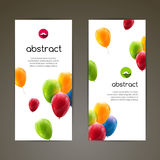 Holiday banners with colorful balloons. Vector illustration.  Stock Photography