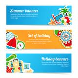 Holiday banners set Stock Image